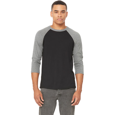 Grey & Black Baseball Tee - Anonymous L.A.