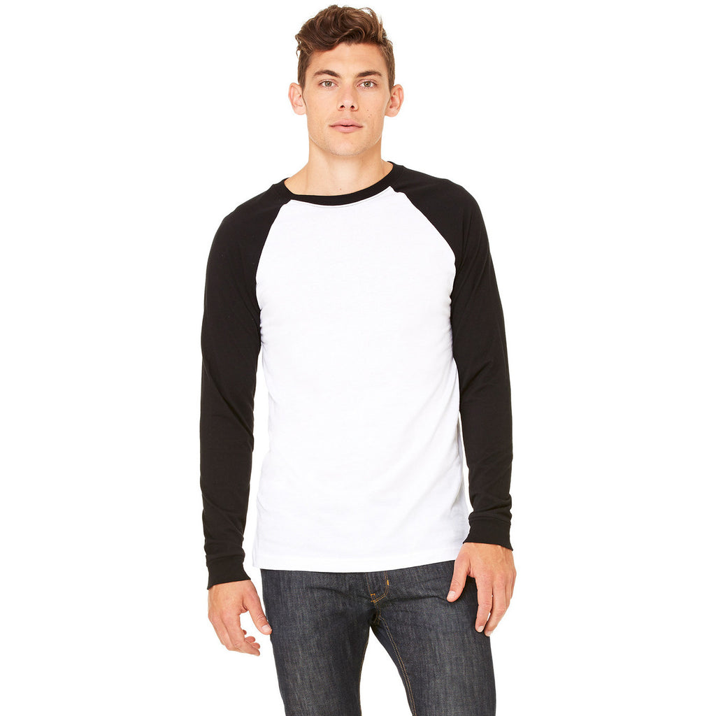 Black & White 3/4 Sleeve Baseball Tee - Anonymous L.A.