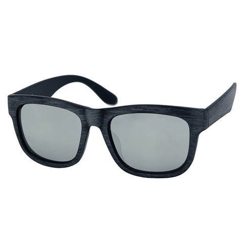 Black Antiqued Wood Specs Sunglasses