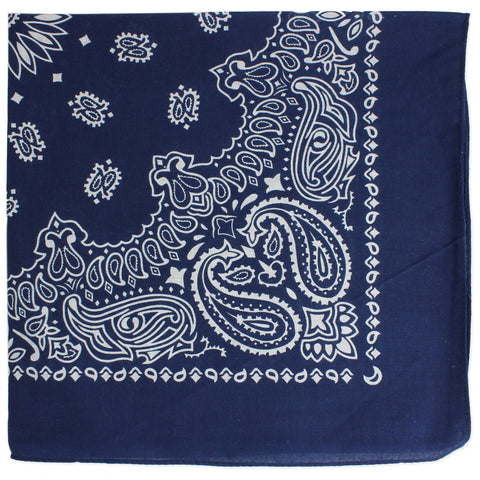 Blue Paisley Print Cotton Bandana - Anonymous L.A.