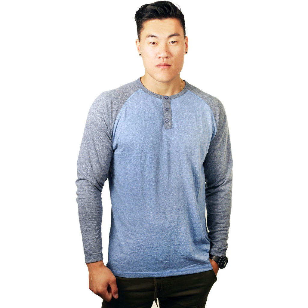 Alpha Beta Blue Baseball Jersey Raglan - Anonymous L.A.
