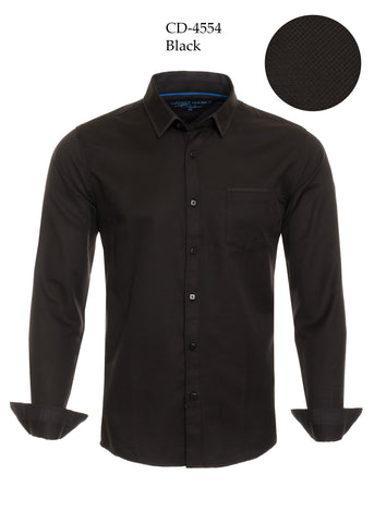 "Men""s  Black Dress Shirt"