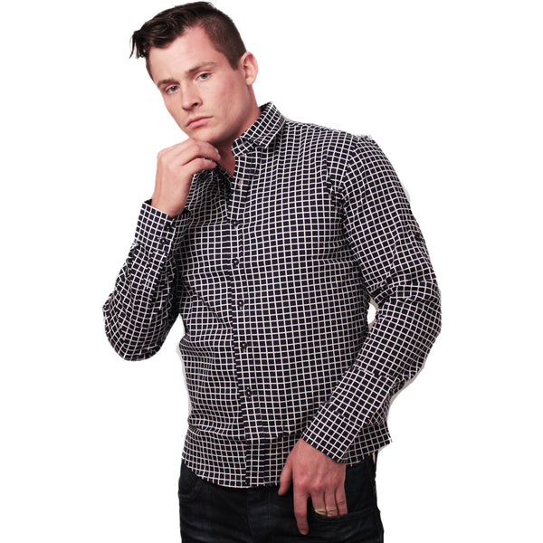 CD-4221 L/S Check Dress Shirt - Anonymous L.A. - 4