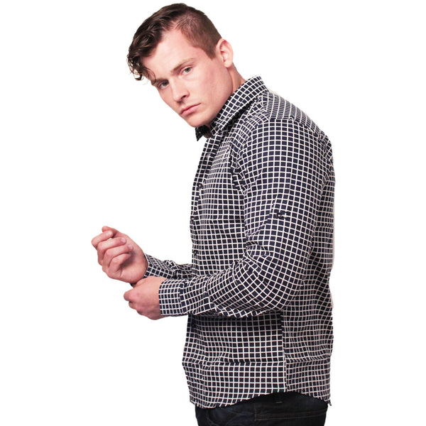 CD-4221 L/S Check Dress Shirt - Anonymous L.A. - 3
