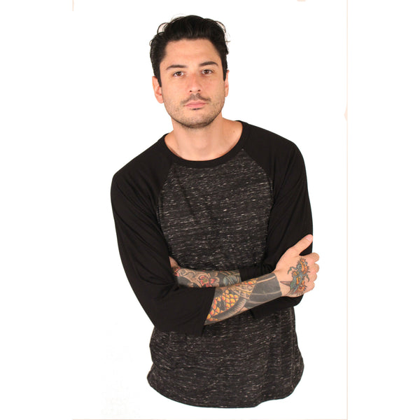 Bella + Canvas Adult 3/4 Sleeve Blended Baseball Tee - Anonymous L.A. - 1
