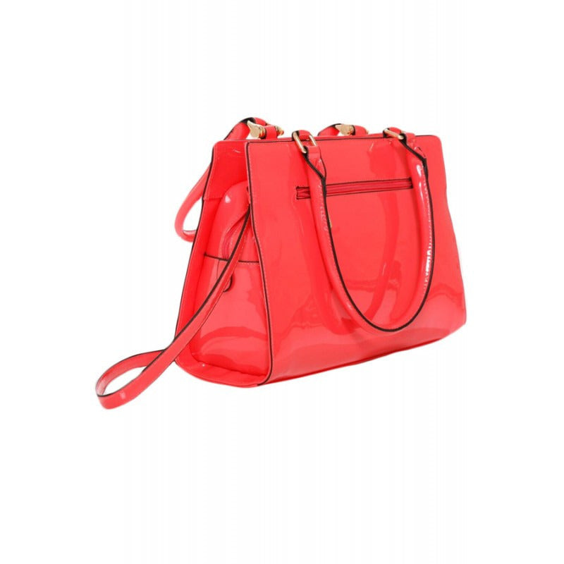 Patent Tote in Coral - Anonymous L.A.