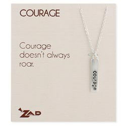 Courage Word Bar Necklace