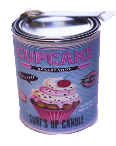 Cupcake Paint Can Candle