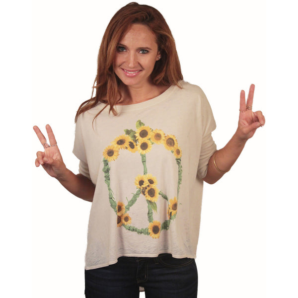 Chaser Sunflowers Boxy Tee - Anonymous L.A. - 2