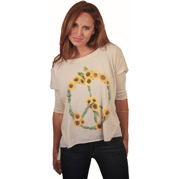 Chaser Sunflowers Boxy Tee - Anonymous L.A. - 3