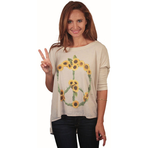 Chaser Sunflowers Boxy Tee - Anonymous L.A. - 1