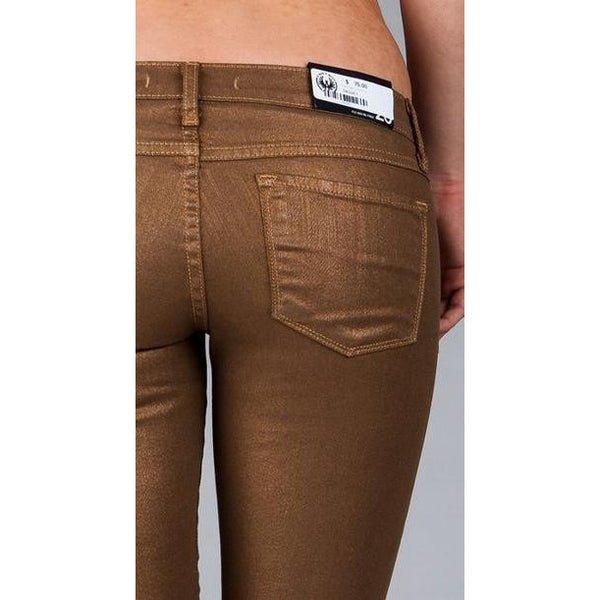 Flying Monkey L7436 Gold Metallic Skinny Jeans - Anonymous L.A. - 3