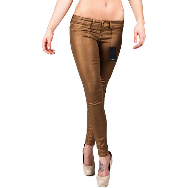 Flying Monkey L7436 Gold Metallic Skinny Jeans - Anonymous L.A. - 1