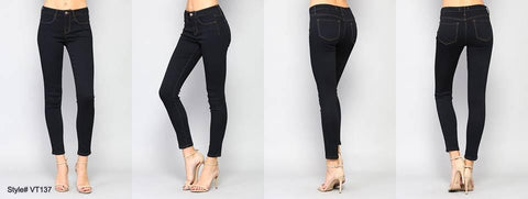 MID RISE SUPER STRETCH DARK SKINNY