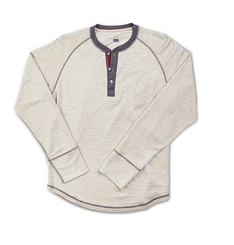 Fitch - L/S Henley T-Shirt With Contrast Stitching