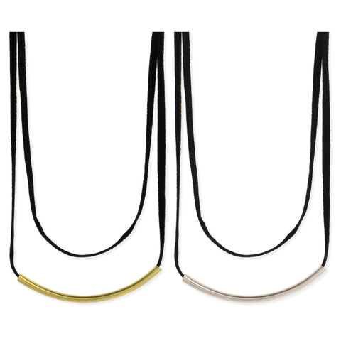 Double Line Metal Bar Choker Necklace - Anonymous L.A.