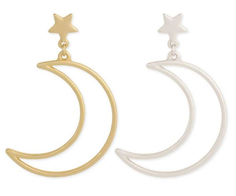 Milky Way Star & Moon Post Earrings