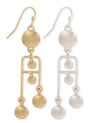 Raise the Bar Circles & Bars Dangle Earrings