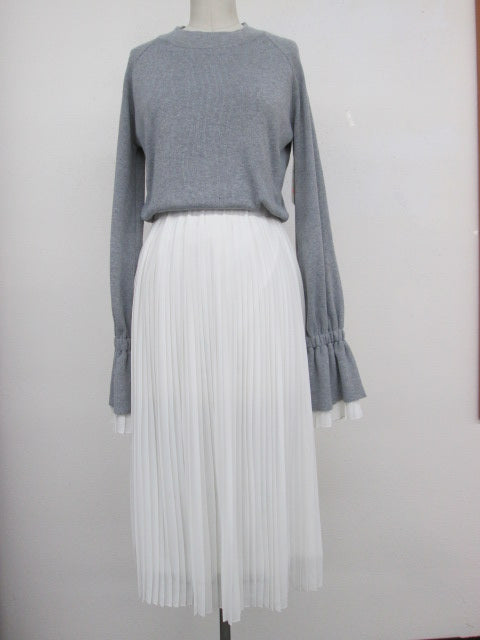 EF-Knit Top/Pleated Skirt Combo