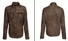 Cove Slim Fit Lambskin Jacket - Elephant