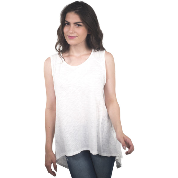 Cotton / Modal Top W/Asymetrical Back - Anonymous L.A. - 1