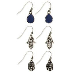 Set of 3 Ethnic Charm Earrings