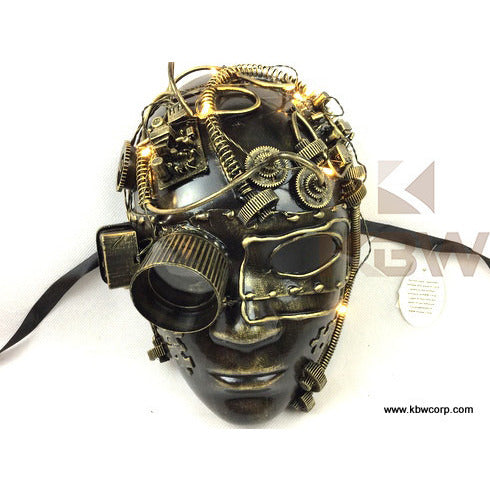 Steampunk Full-Face With Goggles And Lights
