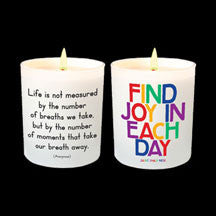 Find Joy In Each Day Candle - Anonymous L.A.