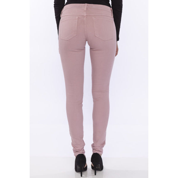 Flying Monkey Low-Mid Rise Skinny Jeans Rose Pink - Anonymous L.A. - 2