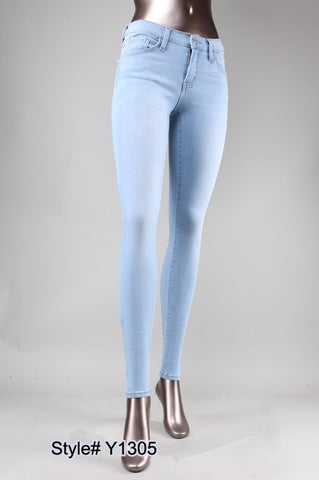 SUPER BLEACH SKINNY MID RISE (AQUARIUS) Y1305