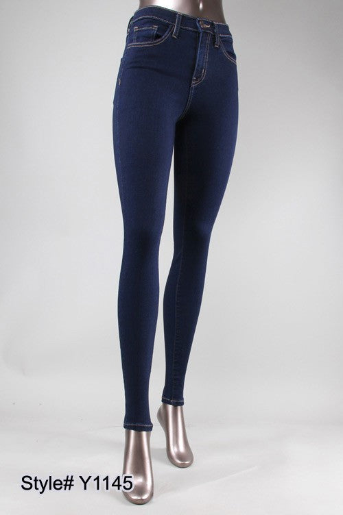 HIGH RISE XTRA LYCRA SKINNY ( BLUE BLOOD )