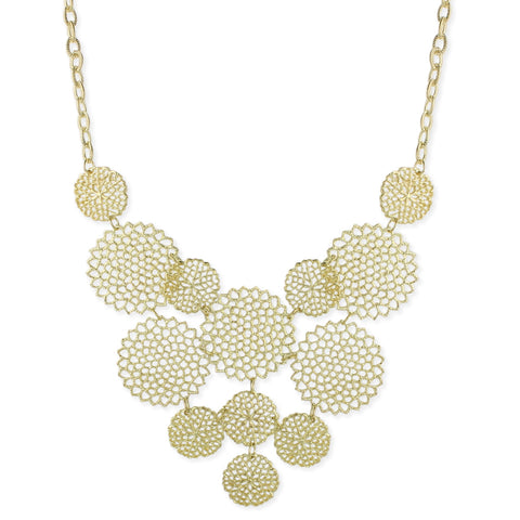 Gold Cutout Circles Bib Necklace - Anonymous L.A.
