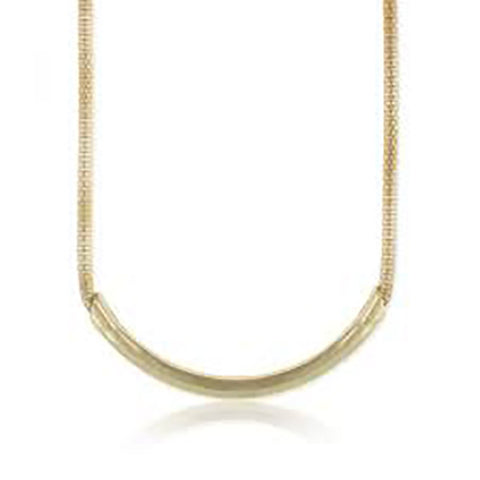 Gold Large Tube Necklace - Anonymous L.A.