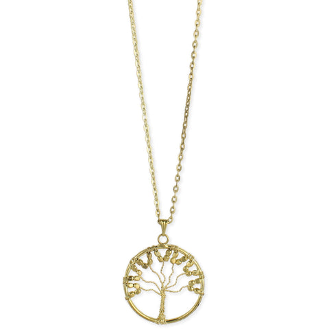 Gold Wire Tree Long Necklace - Anonymous L.A.