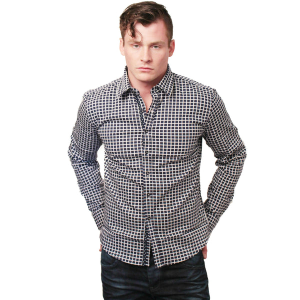 CD-4221 L/S Check Dress Shirt - Anonymous L.A. - 2
