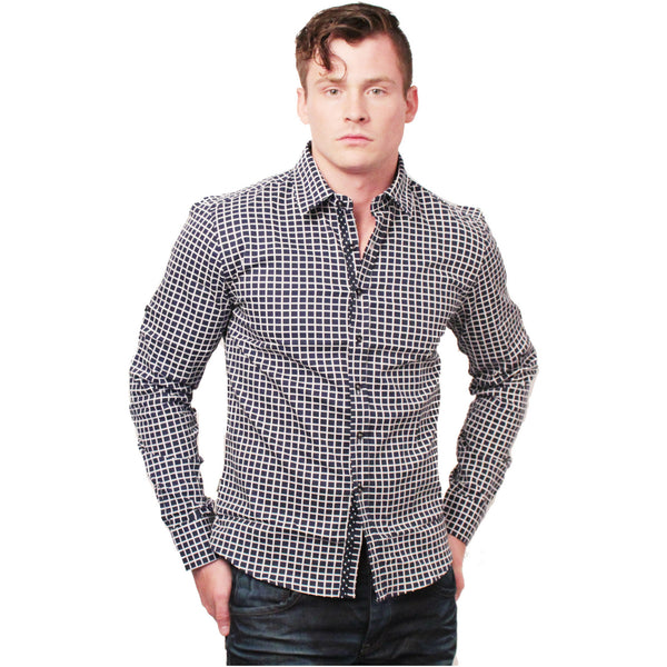 CD-4221 L/S Check Dress Shirt - Anonymous L.A. - 1