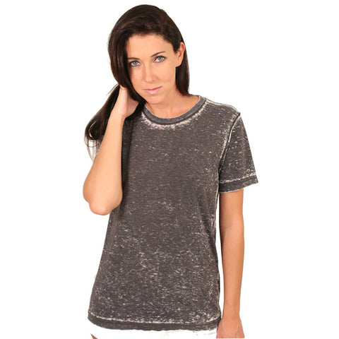 Bella + Canvas Burn Out Crewneck (Grey) - Anonymous L.A.