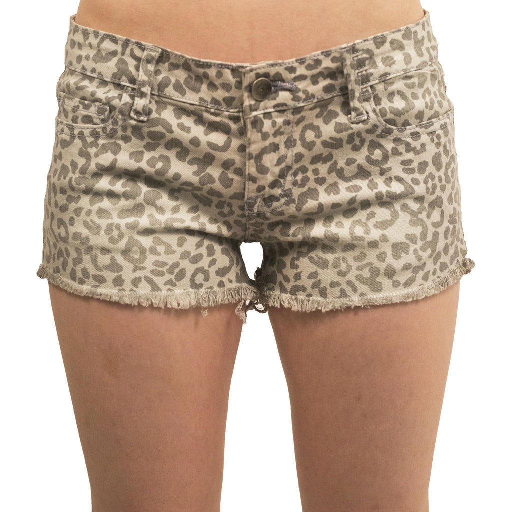 Leopard Print High Waisted Shorts - Anonymous L.A. - 1