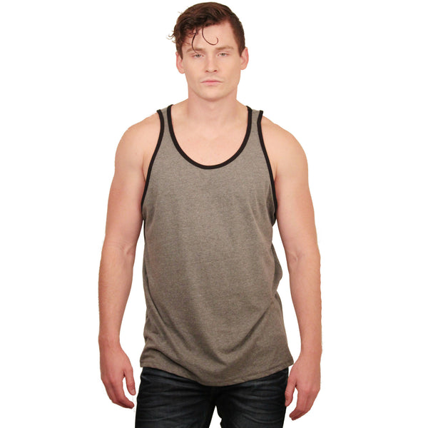 Unisex Jersey Tank Tops With Trim - Anonymous L.A. - 2