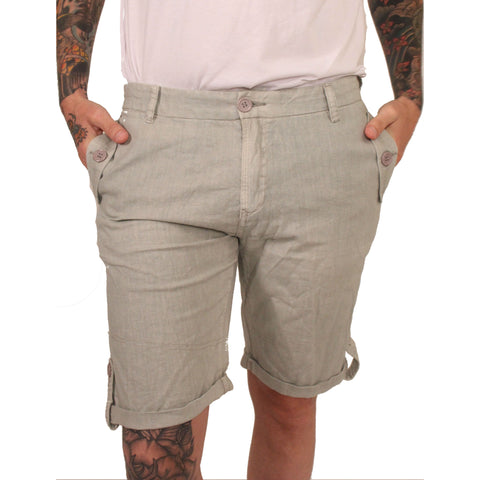 Division E Grey Linen Shorts - Anonymous L.A. - 1