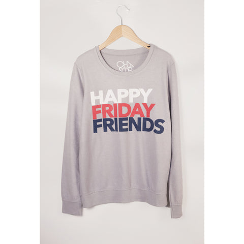 Chaser Happy Friday Fleece Pullover