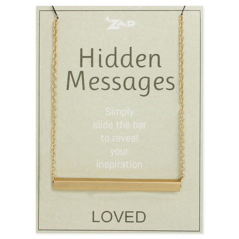 Hidden Messages Slide Bar LoveNecklace