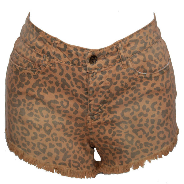 Leopard Print High Waisted Shorts - Anonymous L.A. - 2