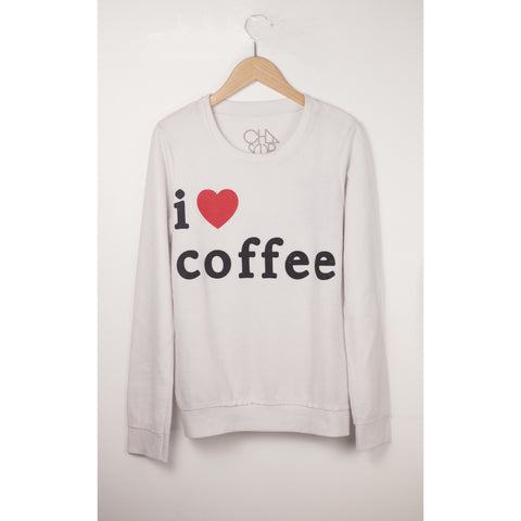 Chaser I Heart Coffee Fleece Pullover