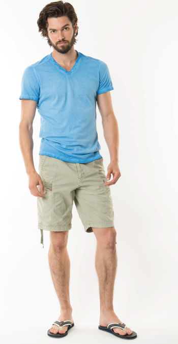 Grey Jet Lag Cargo Shorts