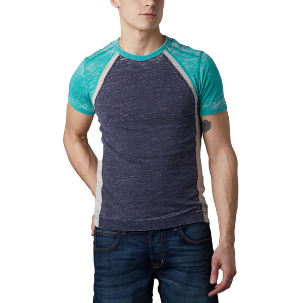 Burnout Color Block T-Shirt