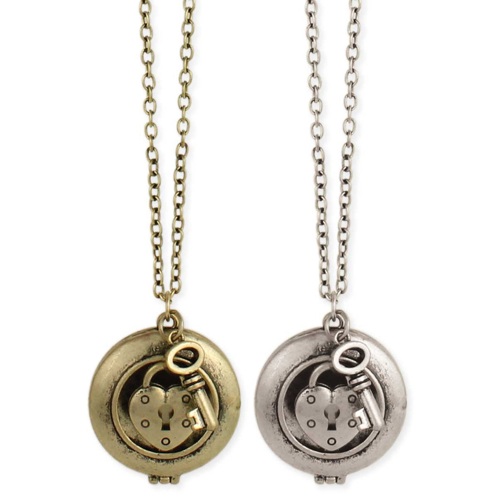 Keep your Secret Locket & Key Necklace
