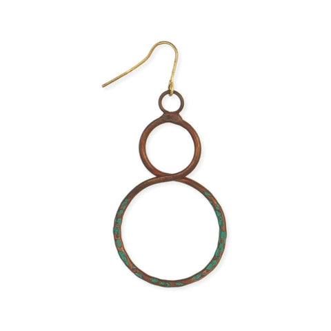 Copper & Patina Infinity Earring