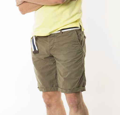 Jet Lage belted flat front woven washer shorts