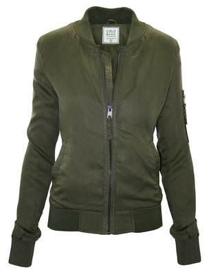 Cielo Bomber Jacket in Olive